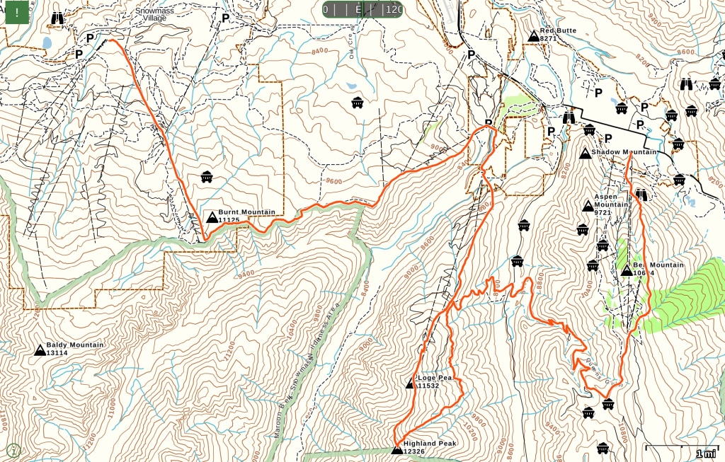 Power of Four Skimo Race Course Map